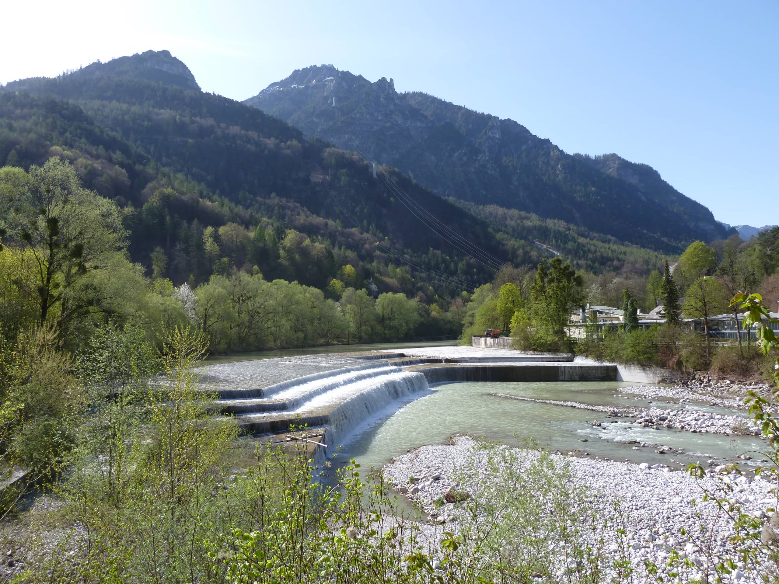 Ausblick auf Saalach - Luitpoldbrücke