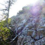 Kletterstrecke (Markierung rechts weiß/rot)