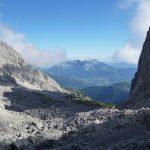 Blick aus dem Watzmannkar auf Schönau am Königssee, Berchtesgaden und Untersberg