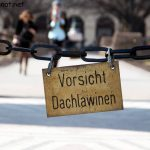 Warnung vor Dachlawinen im Münchner Hofgarten