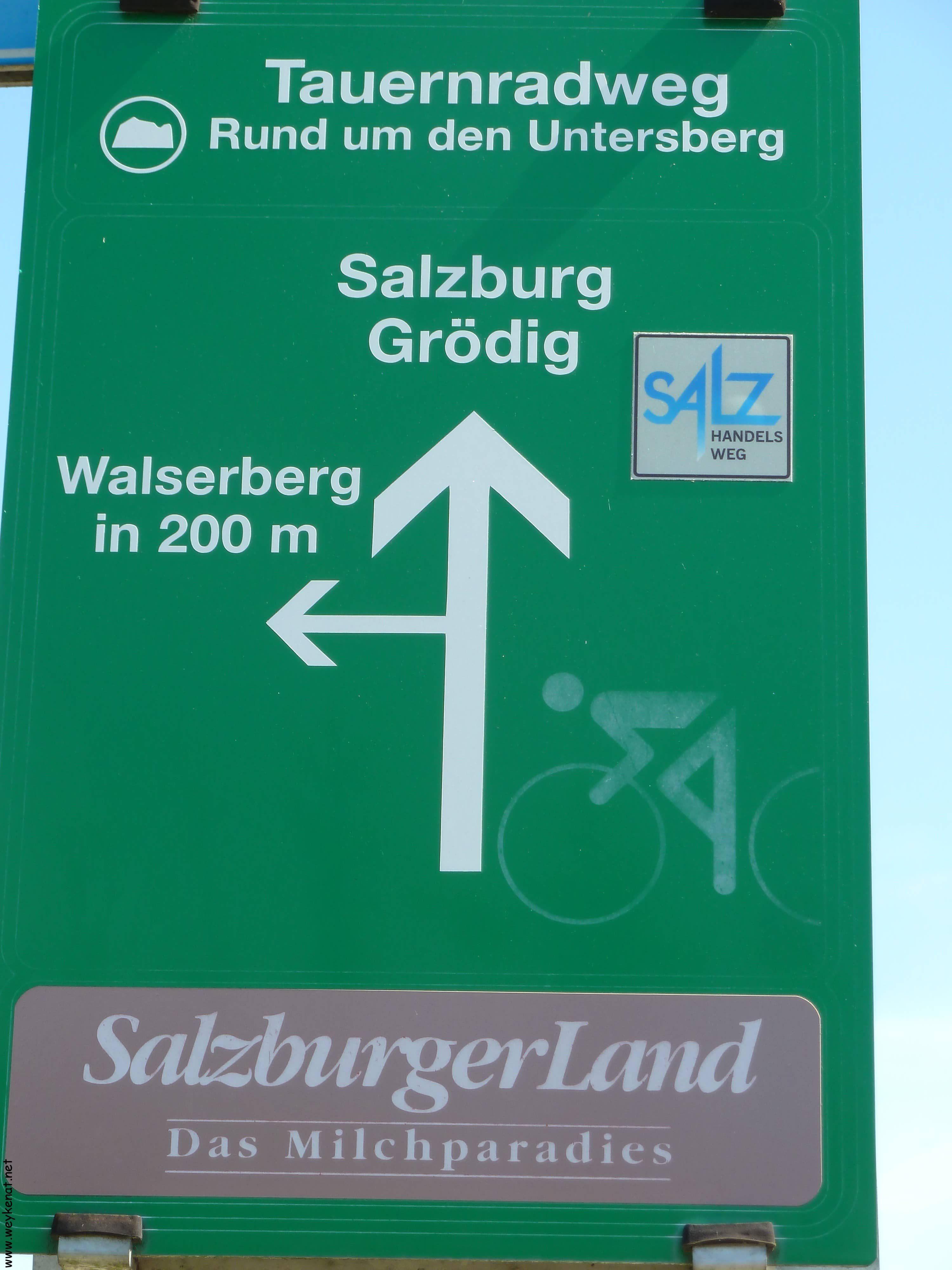Hinweisschild Untersbergradtour