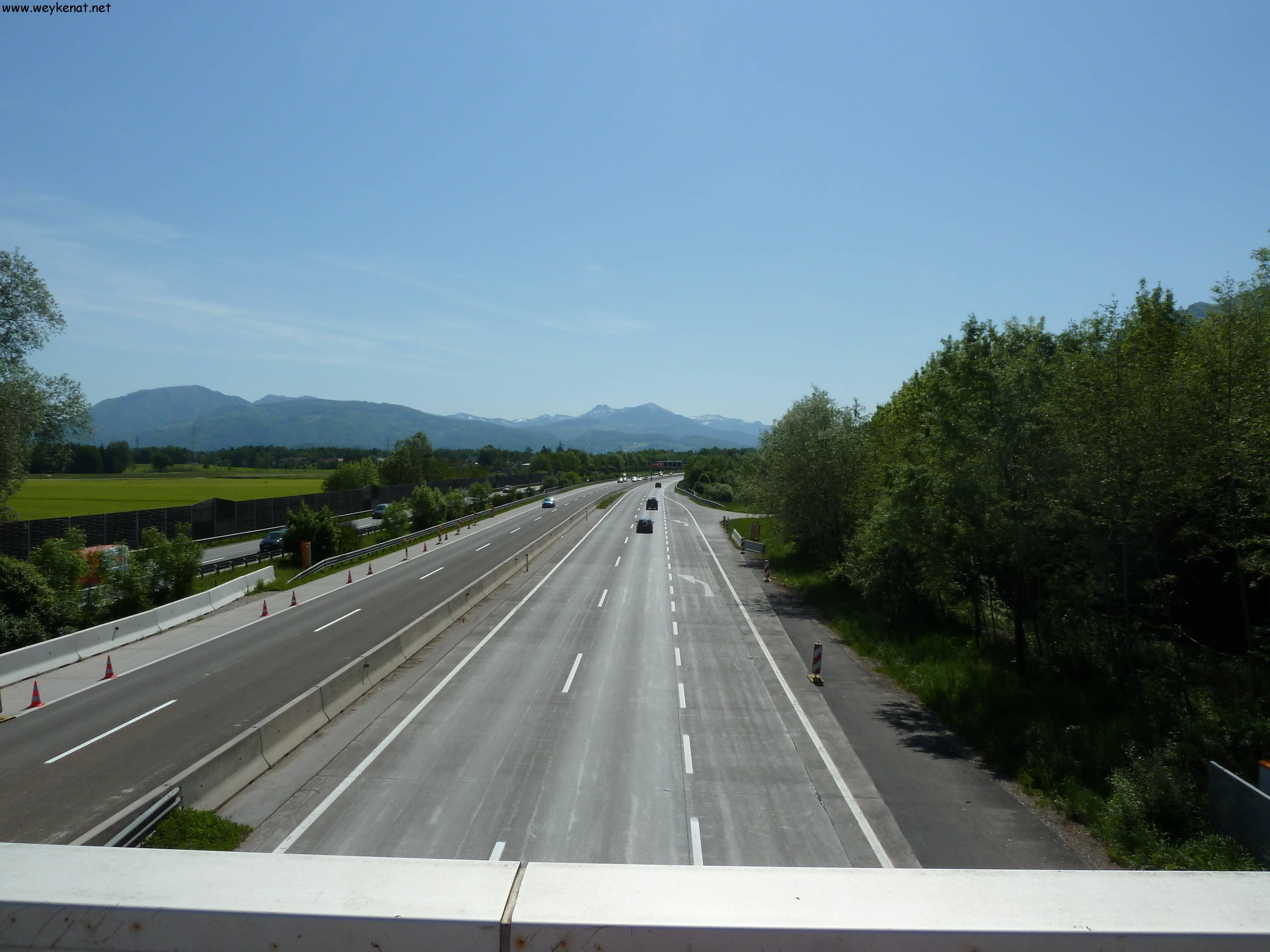 Blick auf die Westautobahn