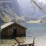 Bootshütte am Obersee / Königssee – 1. Anblick vom Obersee