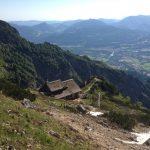 Toni-Lenz-Hütte (1438 m), vom Weg zur Schellenberger Eishöhle aus gesehen