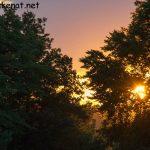 Sonnenuntergang bei der Walhalla