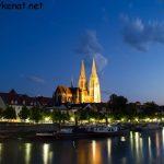 Blick auf den Regensburger Dom von der Hengstenbergbrücke