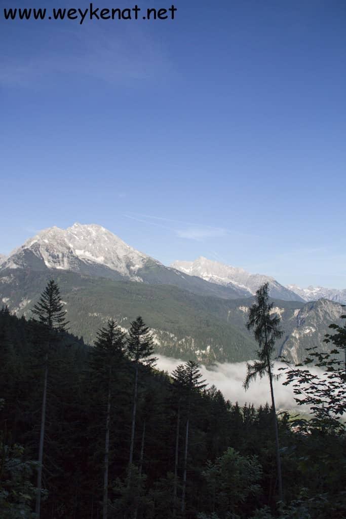 Frühnebel über Schönau und Berchtesgaden