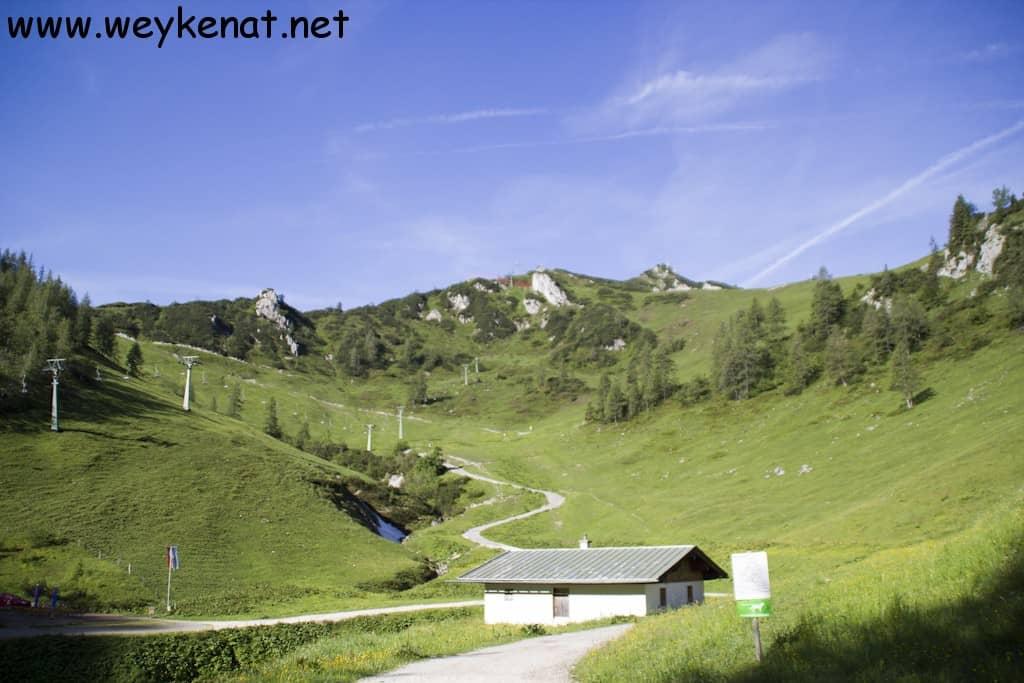 Weg Richtung Jenner Bergstation