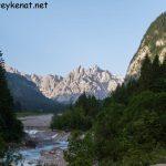 Blick auf das Bergmassiv des Steinernen Meers