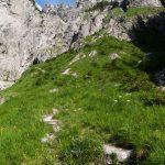 Weg vom Wimbachschloss Richtung Hochalmscharte