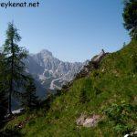 Blick aufs Steinerne Meer auf dem Weg zur Hochalmscharte