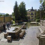 Blick vom Fürstentisch zum Schloss