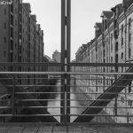 Blick vom Kibbelsteg in Hamburg in die Speicherstadt