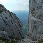 Blick nach unten – kurz vor dem Berchtesgadener Hochthron
