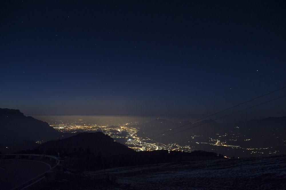 Blick auf Salzburg von der Rossfeldstraße aus
