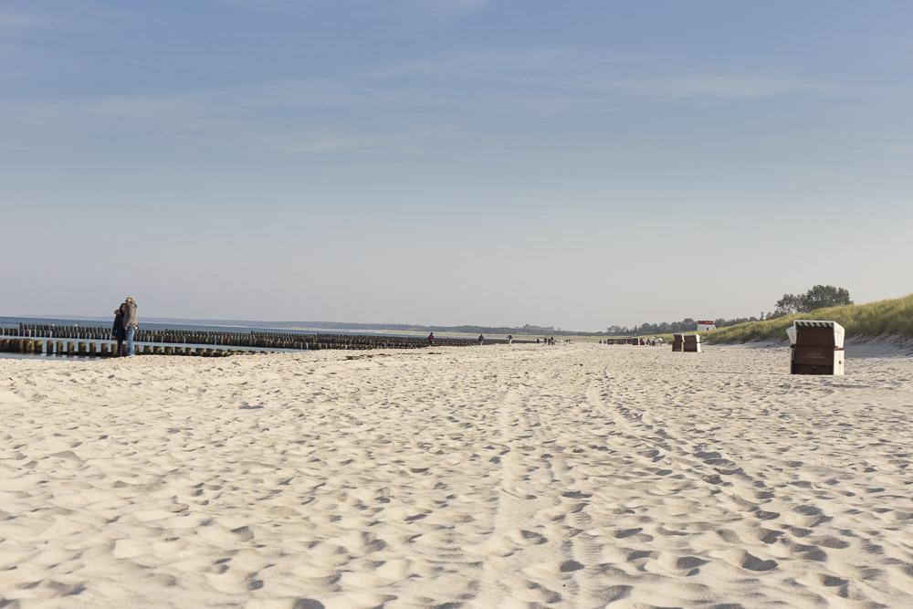 Blick über den Strand in Ahrenshoop