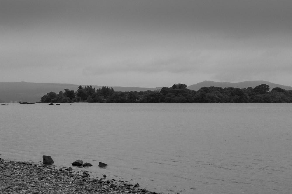 Loch Lomond im Nieselregen